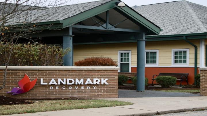 The front entrance of Landmark Recovery of Louisville
